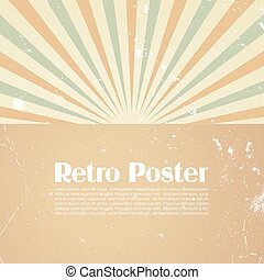 Retro poster template, vector illustration