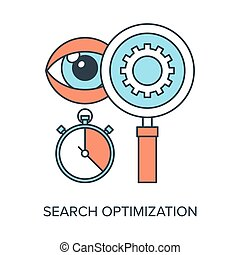 Search Optimization - Vector illustration of search...
