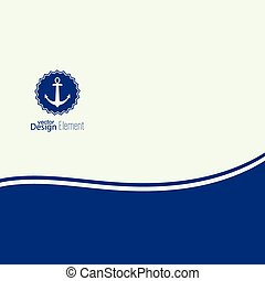 Abstract background with an anchor and a place for text.