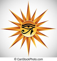 The eye of Ra. - The eye of Ra vector symbol.
