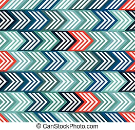 Geometric seamless pattern with arrows. - Geometric seamless...