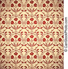 Vintage floral style seamless background. - Vintage floral...