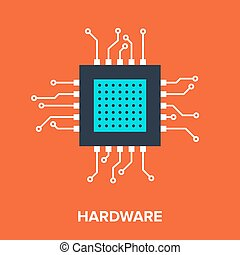 Hardware - Vector illustration of hardware flat line design...