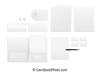 Template for branding identity on white - Template for...