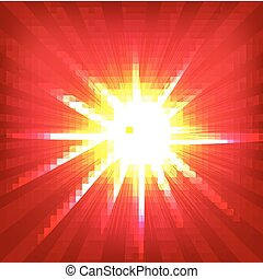 Red Sunburst Poster