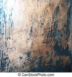 Grunge Texture - Copper Grunge Texture, Vector Illustration