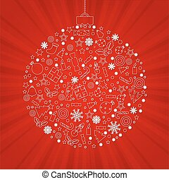 Christmas Discount Poster With Gradient Mesh, Vector...