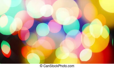 Bokeh lights - Beautiful colorful defocused bokeh festive...
