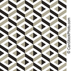3d shapes seamless pattern.