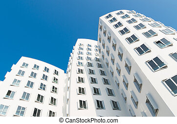 modern architecture in germany - modern distorted buildings...