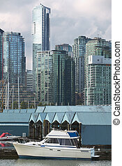 Vancouver skyline and waterfront from Stanley Park