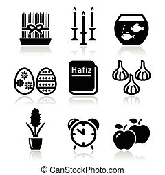 Nowruz - Persian New Year icons set - Vector icons set for...