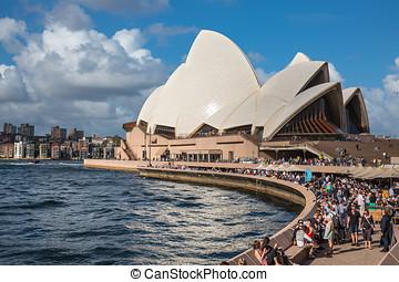 Sydney Opera House in Sydney, Australia. - SYDNEY, AUSTRALIA...