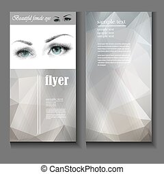 flyer template female eye with fashion makeup