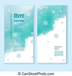 flyer template with a winter background