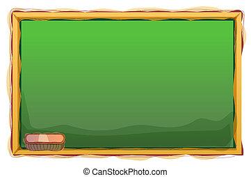 Blackboard - illustration drawing of blackboardin a white...