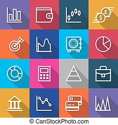 Set of Business Finance Icons Designs