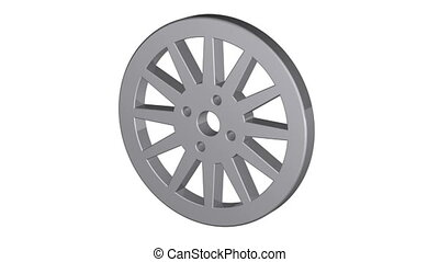Car wheel, illustrations in motion, isolated on white...