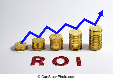 Return On Investment - Conceptual of ROI acronym for Return...