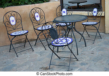Out door tables and chairs set