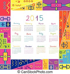 2015 calendar with frame for kids