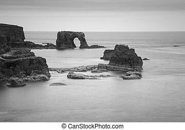 Coast of Tyne and Wear, UK - Sea stacks on the coast of Tyne...