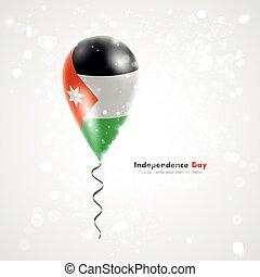 Flag of Jordan on balloon