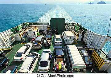 Car on Ferry boat