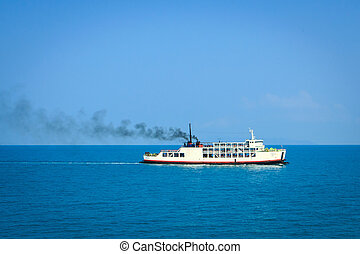 Ferry boat transport from island to mainland