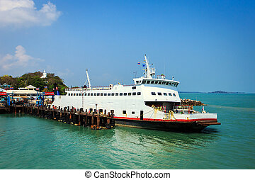Ferry boat at pier
