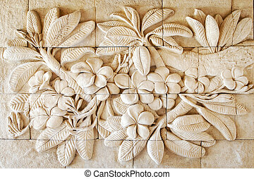 Flower of stone carving hand made in Thailand