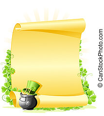 St Patricks Day blank Letter