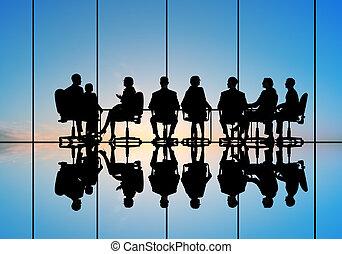 empresa / negocio, reunión,