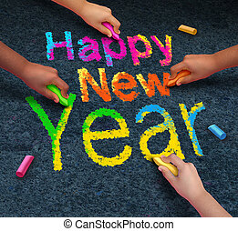 Happy New Year Friends - Happy new year friends concept with...