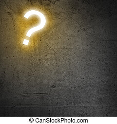 Question mark - Background image with question mark on...