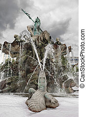 Neptunbrunnen. - The The oldest and the most beautiful...