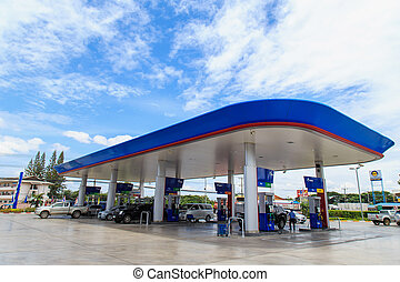 PETCHBURI, THAILAND - AUG 31:PTT Gas Station on Aug 31,14 in...