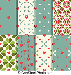 Heart patterns - Patterns set with decorative hearts