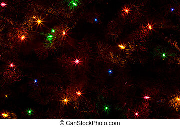 Abstract of Christmas Tree Lights - An Abstract of a...