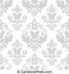 Orient Seamless Pattern Abstract Background - Light damask...