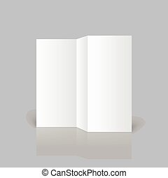 White blank - Stationary positioned blank three fold paper...