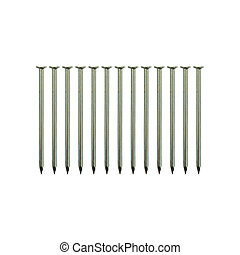 metal nails isolated on white background