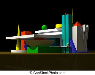 3D abstract model