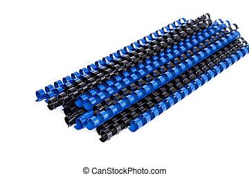 peines, encuadernación, plástico