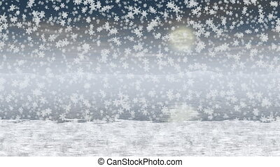 Snowy landscape generated seamless