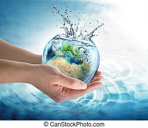 agua, conservación, en, Europa,