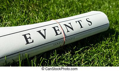 acontecimientos, periódico,