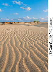 Waves on sand dunes in Chaves beach Praia de Chaves in...