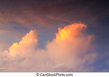 Beautiful cloud at Sunrise time