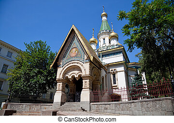 russian church S Nicholas bulgaria - a view of the russian...